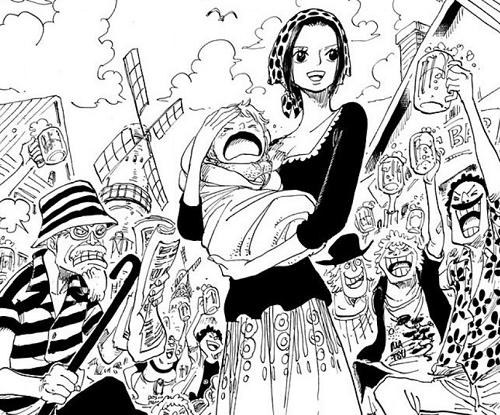 ワンピース62巻 抱かれているのはマキノとシャンクスの子供説