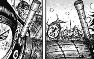 キングダムネタバレ583話(確定速報) カイネが右の戦場に現れる!狙われるのは玉鳳隊の王賁!