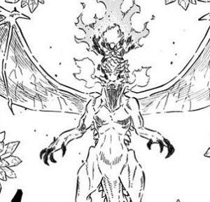 ブラッククローバー 四大属性の火の精霊サラマンダーとファナ