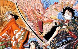 ワンピース33巻 モモの助が大人になった龍の姿?!カイドウと龍対決か