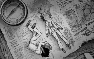 約束のネバーランド考察|扉絵に伏線?!45話扉絵の付箋注目!ウーゴ冒険記か