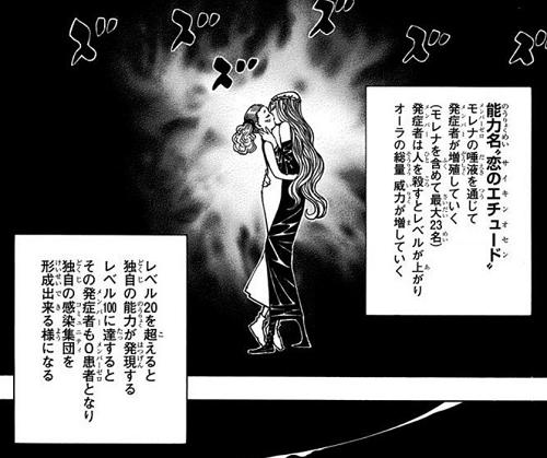HUNTER×HUNTER36巻 モレナの能力「恋のエチュード(サイキンオセン)」