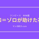 ワンピースネタバレ938話(確定速報)|ゾロが助けた花魁は❝日和(ひより)❞!モモの助を探す!
