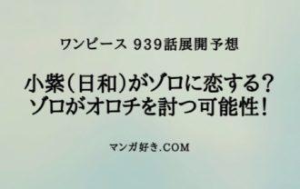 ワンピースネタバレ939話展開予想2|小紫(日和)がゾロに恋する!?ゾロの対戦相手はオロチで確定か?