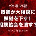 バキ道ネタバレ25話展開予想|宿禰が大相撲に鉄槌を下す!相撲協会を潰すか?