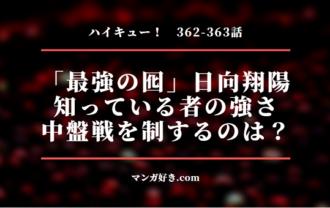 ハイキューネタバレ362話確定と363話 「最強の囮」日向!弱さを知る者の強さ!