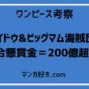 ワンピース考察|カイドウ&ビッグマム海賊団の総合懸賞金は200億を超える!?