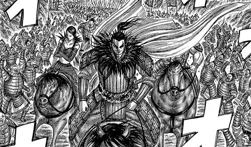 キングダム45巻 桓騎が黒羊の丘に悠々と登る