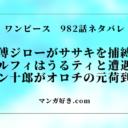 ワンピース確定ネタバレ982話【最新】傅ジローはササキを捕縛!
