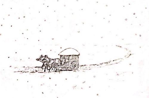 キングダム648話 雪道の馬車