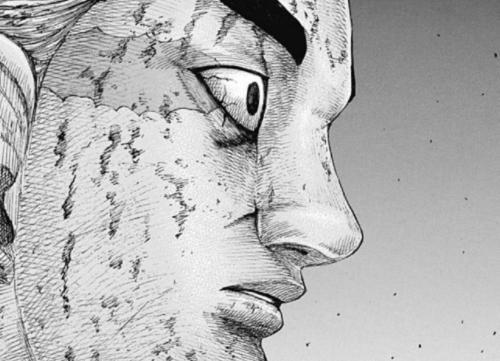 キングダム654話 満羽が戦場の躯を見つめる表情