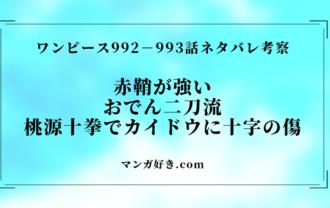 ワンピースネタバレ992話確定と993話|カイドウにおでん二刀流!大ダメージ!