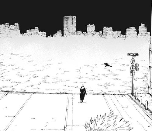 呪術廻戦120話 宿儺の領域展開「伏魔御厨子(ふくまみづし)」の跡