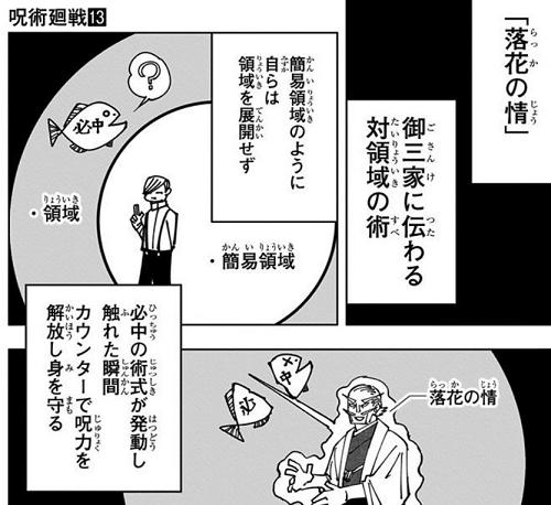 呪術廻戦13巻 落下の情についての解説