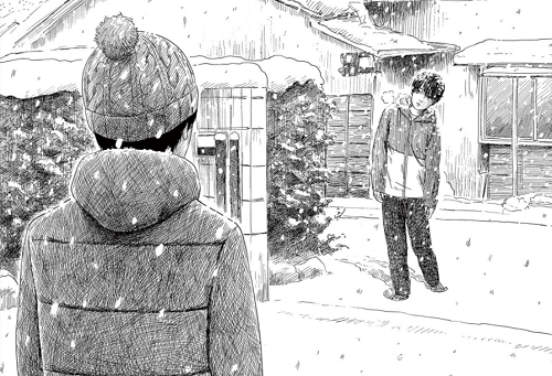 血の轍84話 しげるが雪の中で静一の前に現れる