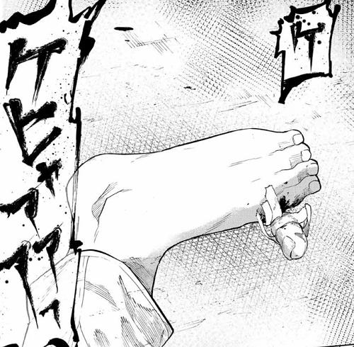 十字架のろくにん34話 円比呂の親指は取れている